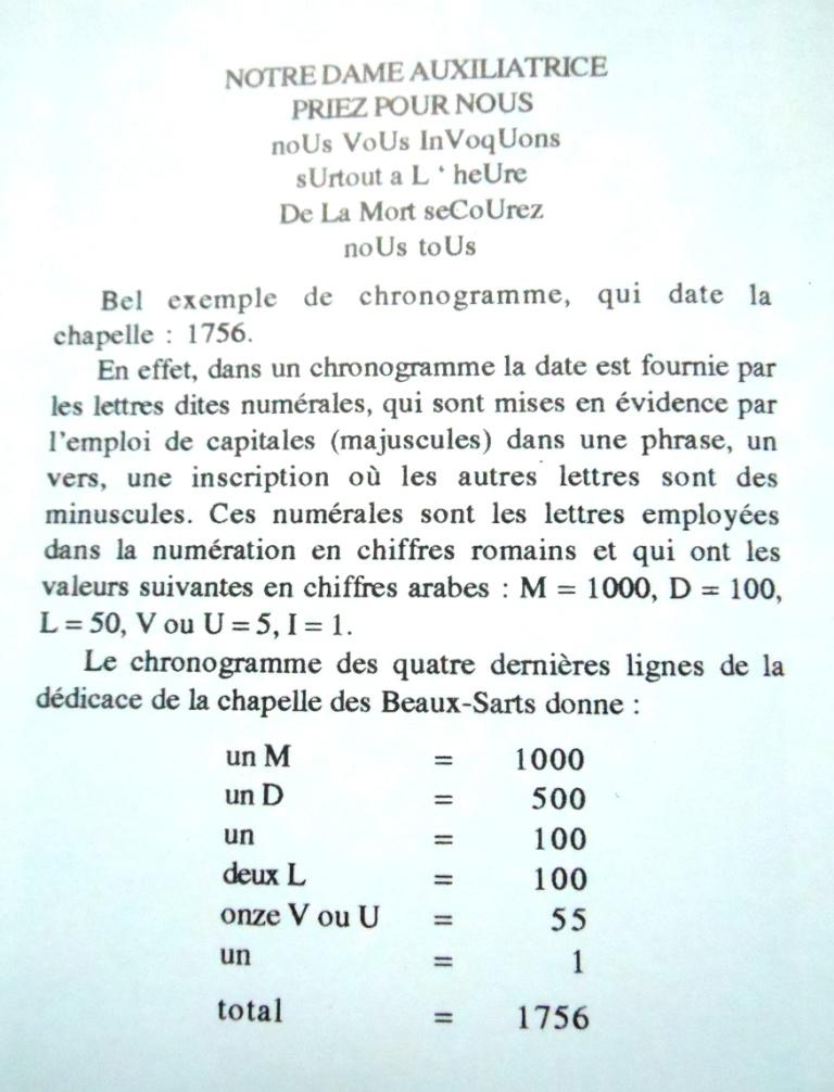 Pour information