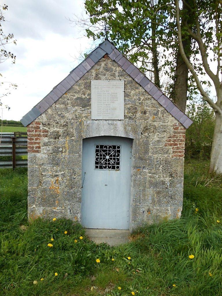 Chapelle dédiée à de nombreux saints 1829 -rte de Fayt
