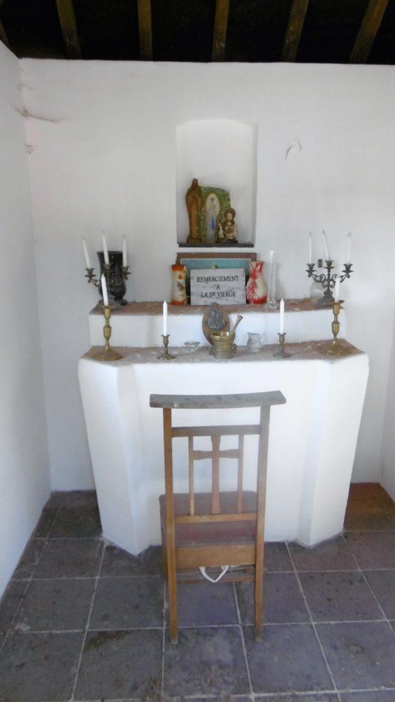 Intérieur de la chapelle N.D de Bon Secours en 2018