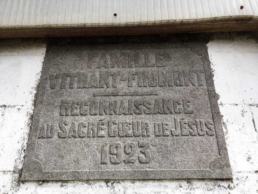 Famille Vitrant Fromont reconnaossance au coeur de Jésus 1923