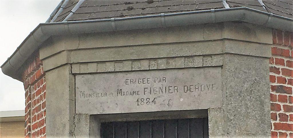 Chapelle St Joseph érigée par M et Mme Fignier-Dehove en 1884 rue Odon Soufflet