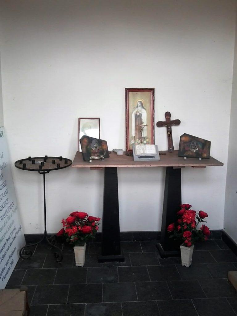 Intérieur de la chapelle St Hubert