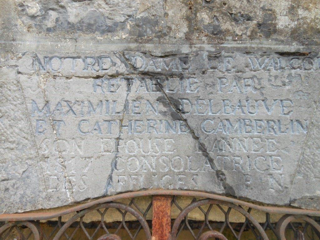 rétabli en 1817 par Maximilien Delbauve et Catherine Camberlin