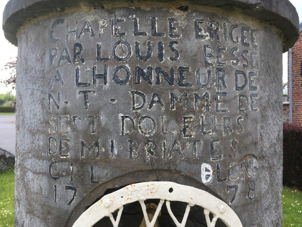Chapelle érigée par Louis Besse à l'honneur de Notre Dame des Sept Douleurs