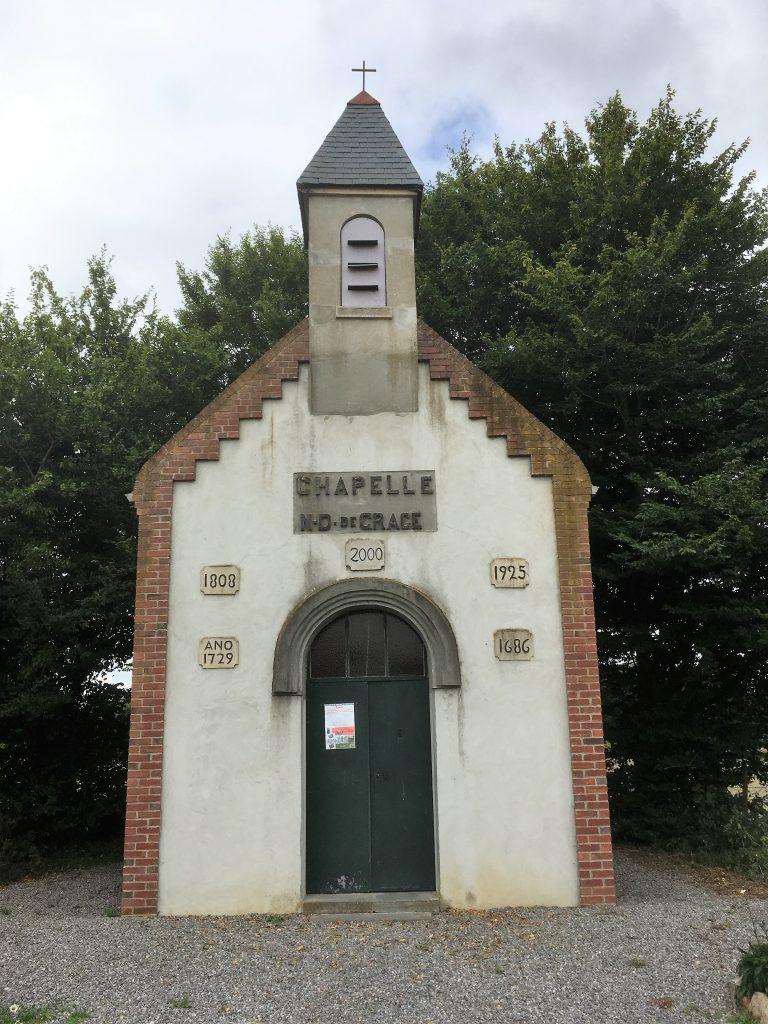 Chapelle N.D de Grâce. Chemin du Rosembois