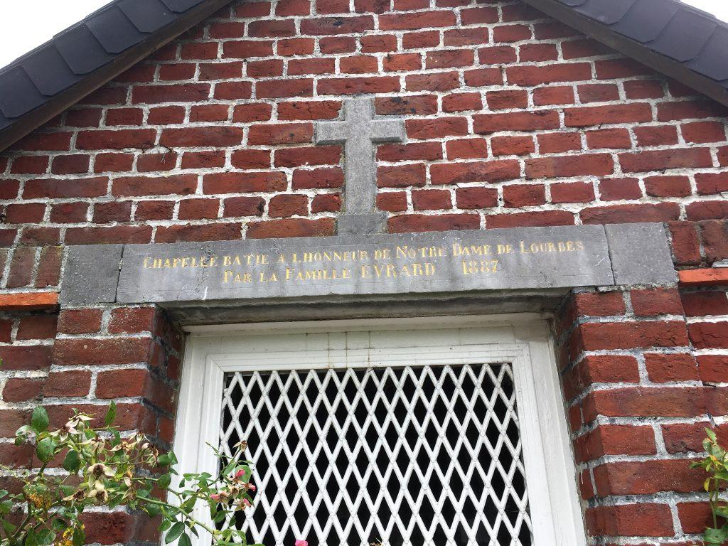 Chapelle Evrard dédiée à N.D de Lourdes
