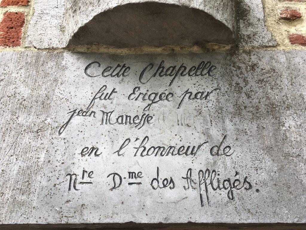 Chapelle érigée par Jean Manesse