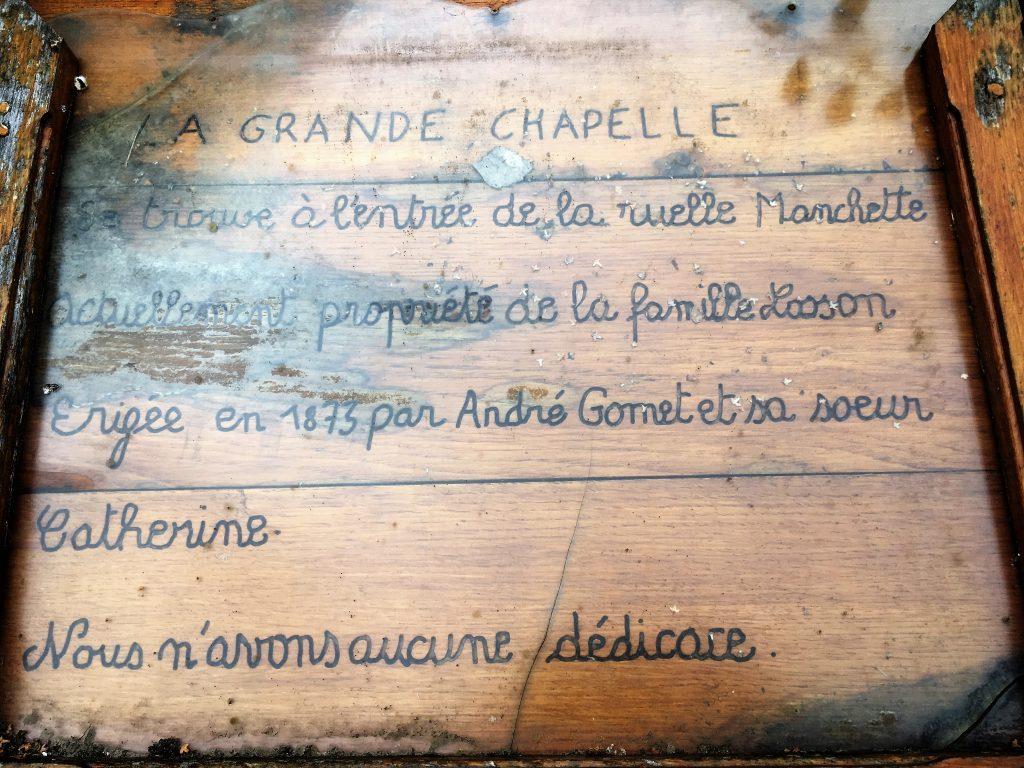 Chapelle Gomet