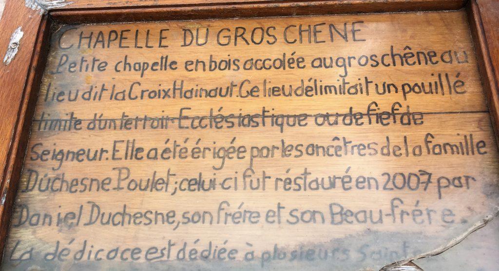 Chapelle érigée par la famille Duschene Poulet