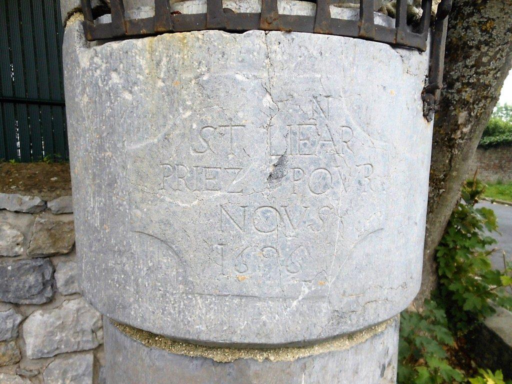 St Liear (n au dessus) /priez pour / nous / 1696