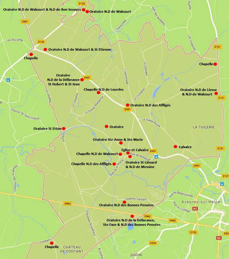 Carte à partir de Google Maps