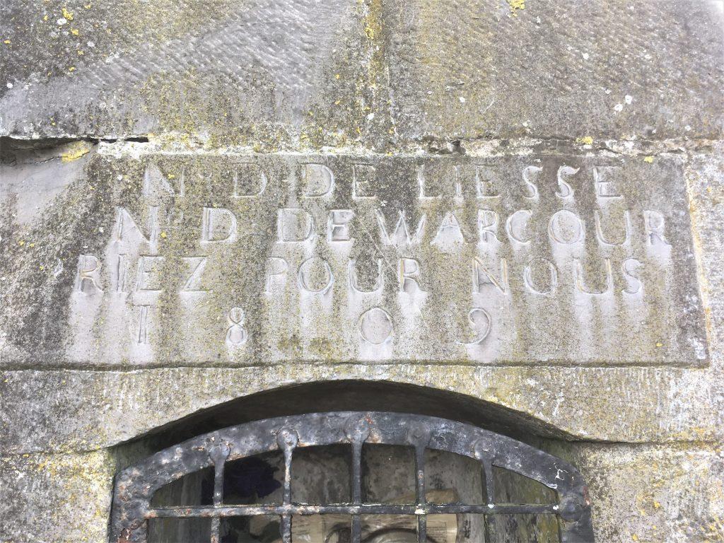 N D de Liesse N D de Walcour priez pour nous 1809