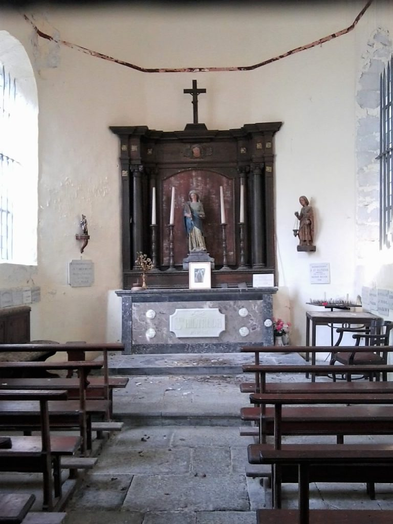 Intérieur de la chapelle Ste Hiltrude