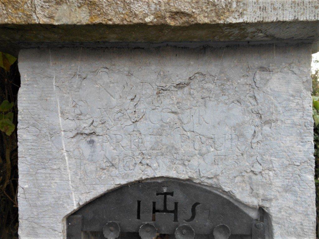 N D de / Walcour / priez pour / nous 1775