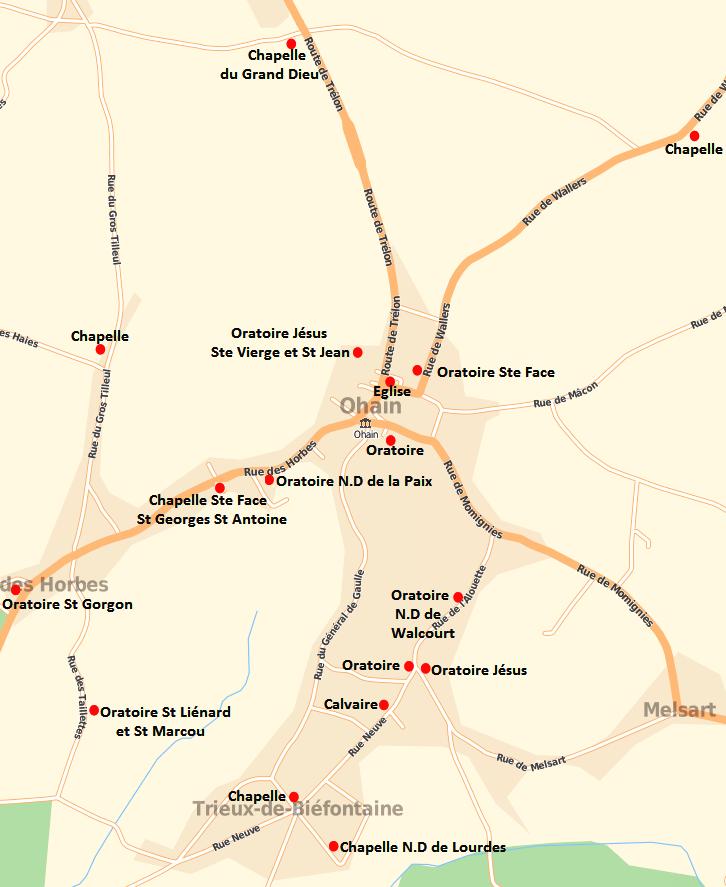 Carte à partir de Mappy