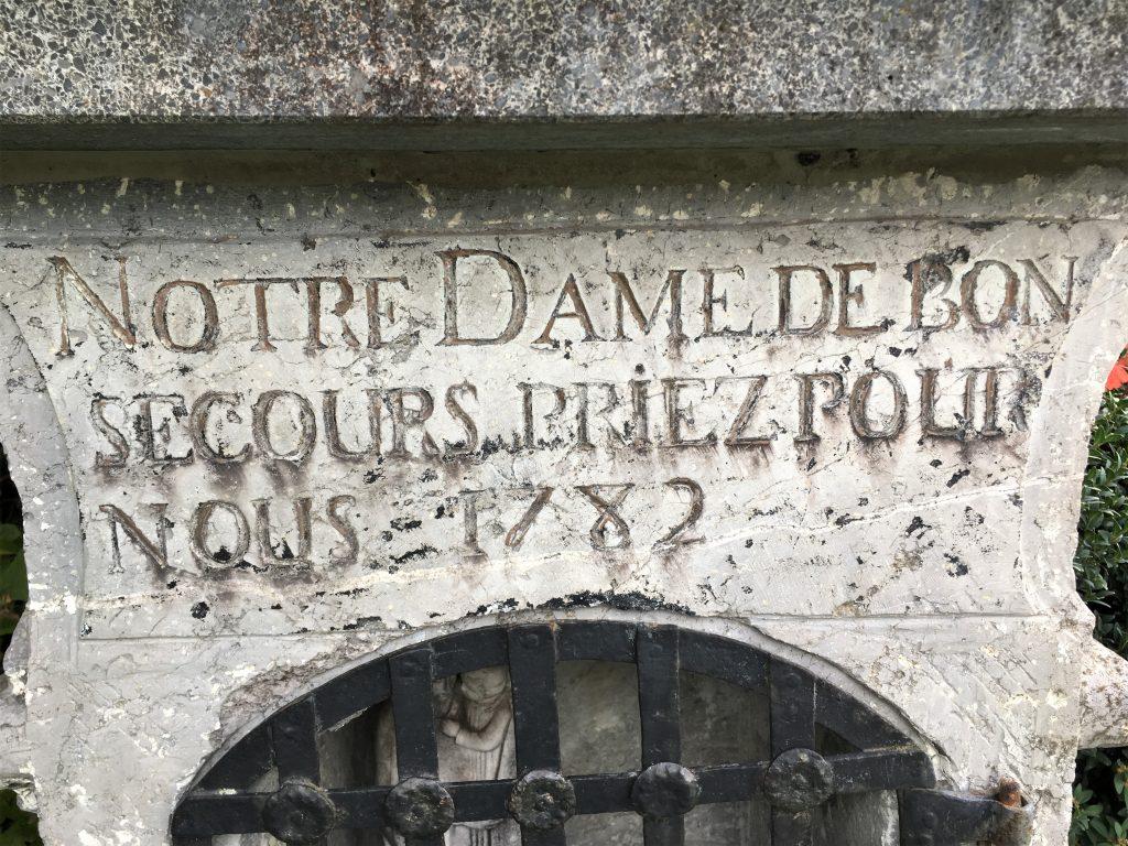Notre Dame de bon secours priez pour nous 1782
