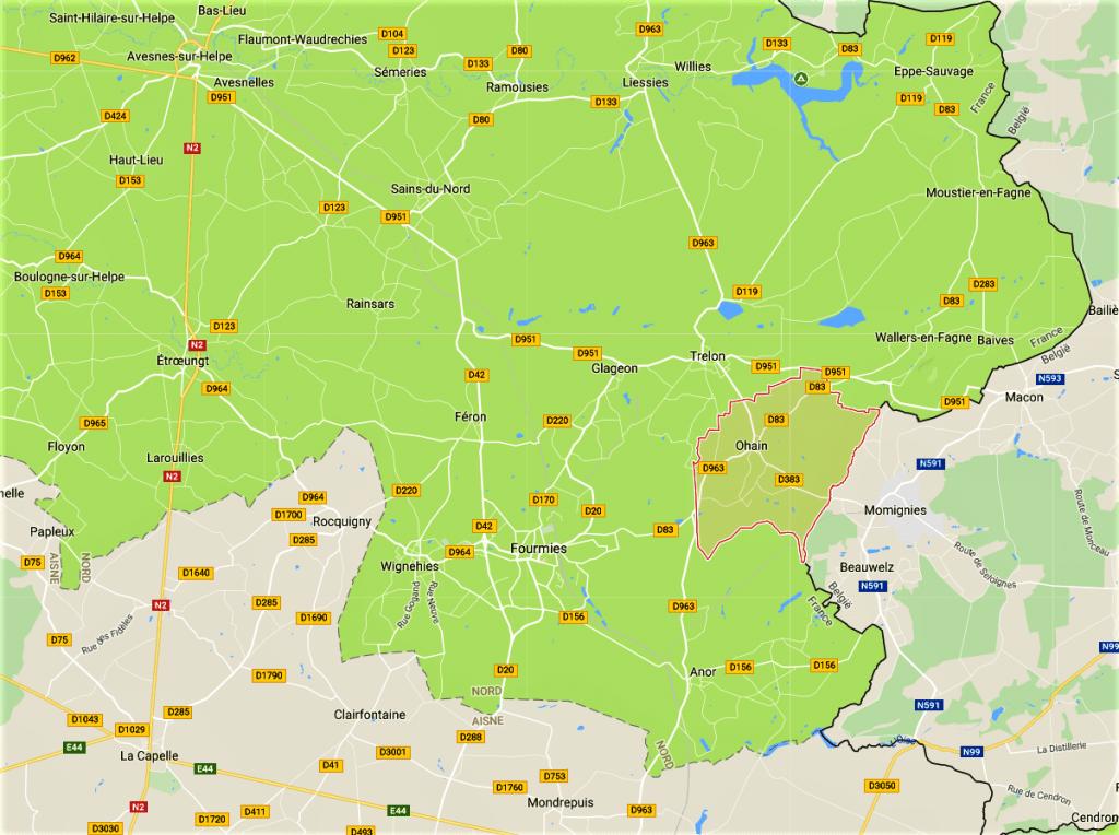 Carte à partir de Google Maps
